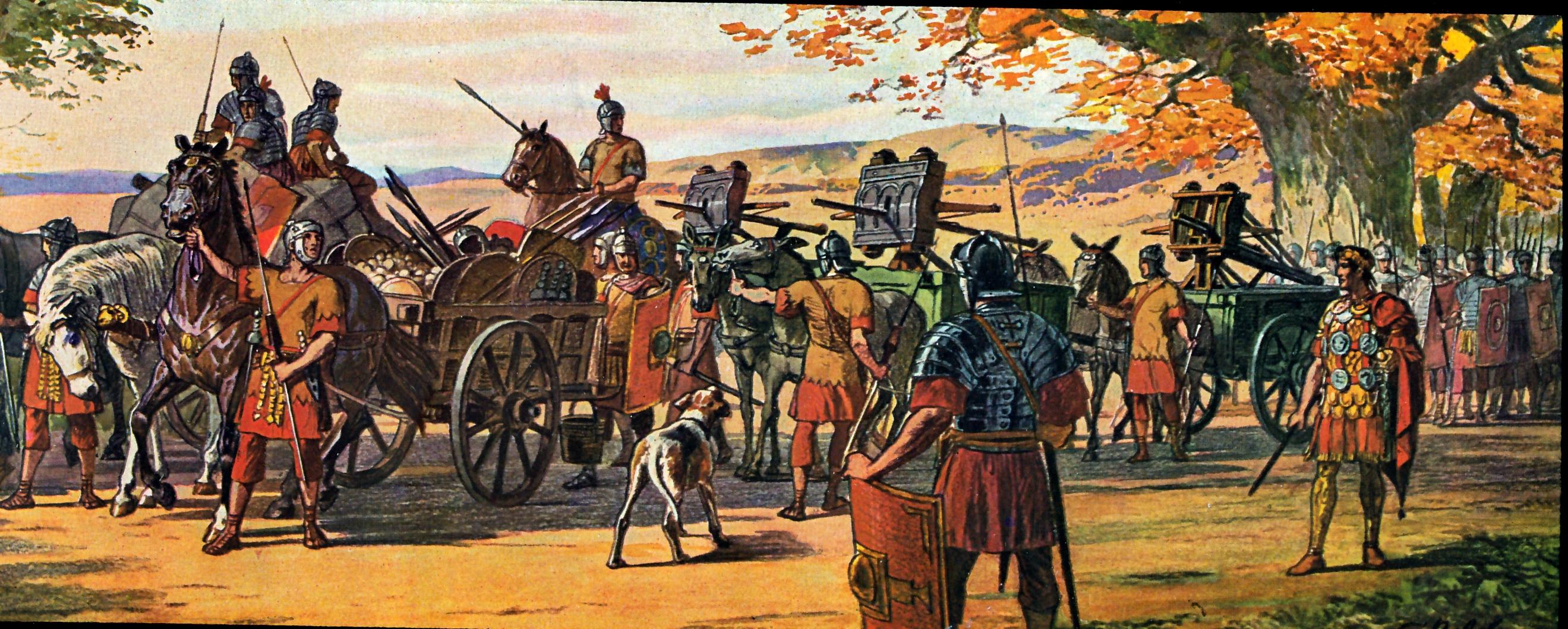 Römische Ballista Festzug
