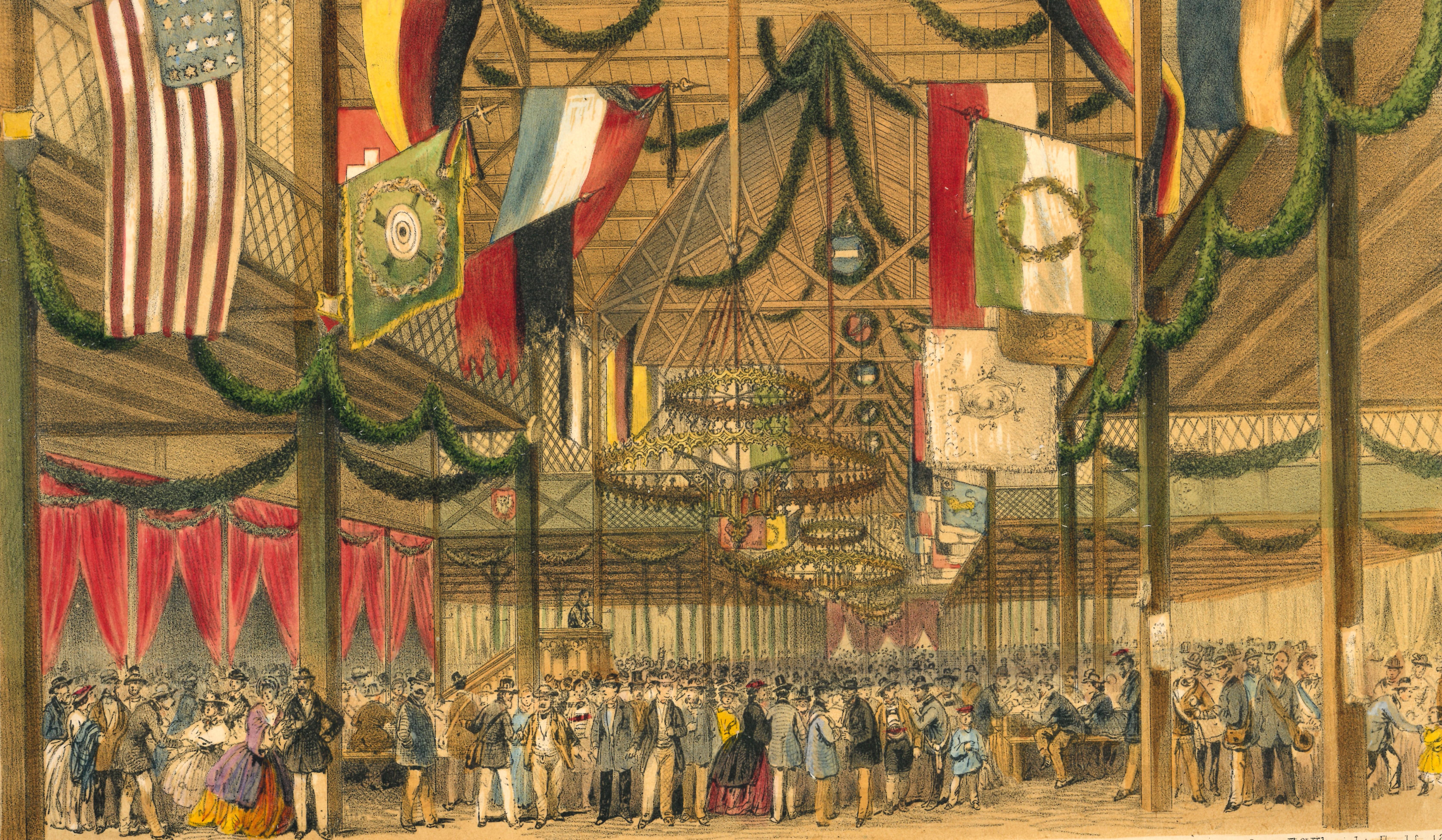 Bundesschießen Frankfurt Festhalle, 1862