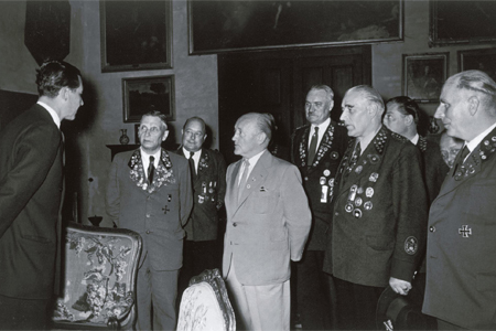 Deutsches Bundesschießen 1955: DSB-Präsidium bei Prinz Ernst-August zu Hannover