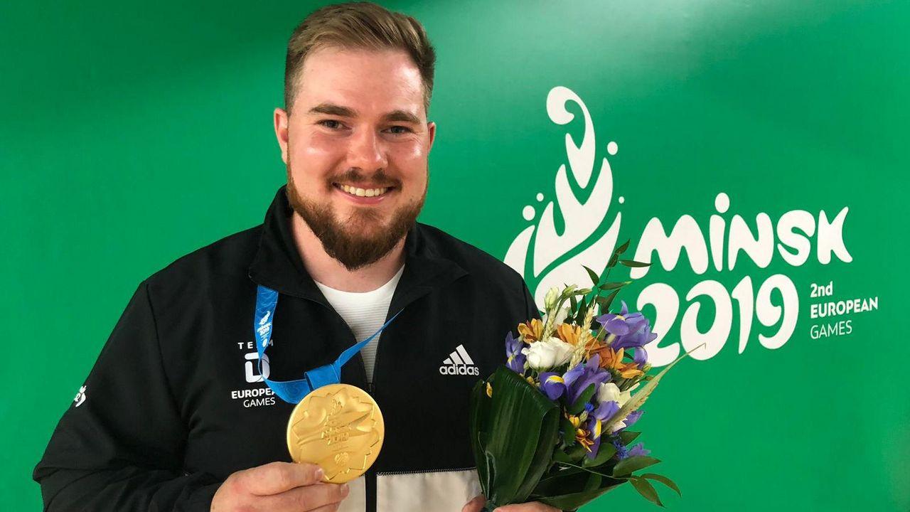 Foto: DSB / European Games-Goldmedaillengewinner 2019: Oliver Geis.