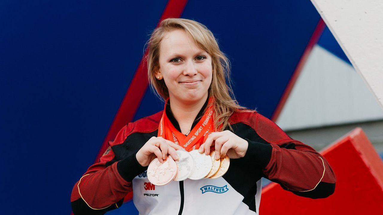 Bild: DSB / Lehramtsstudentin Isabella Straub holte bei der WM 2018 nicht nur den Quotenplatz für Tokio 2020, sondern auch noch fünf Medaillen.