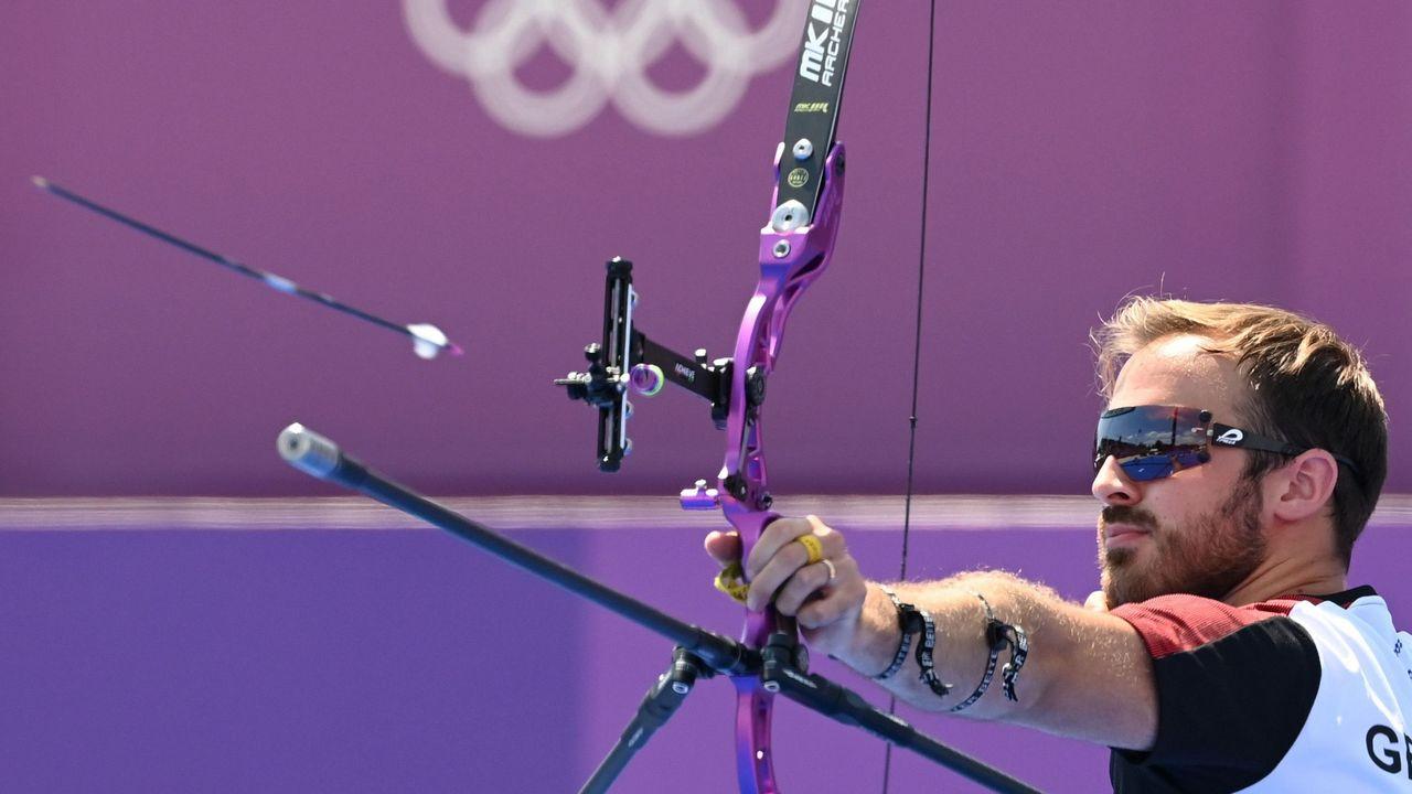Foto: Picture Alliance / Florian Unruh ließ die Pfeile so gut bei Olympischen Spielen fliegen, wie es zuvor kein deutscher Bogenschütze geschafft hat.