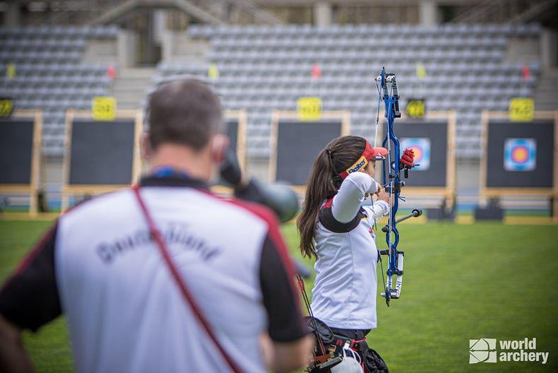 Foto: World Archery / Janine Meißner war beste deutsche Compounderin in Paris.