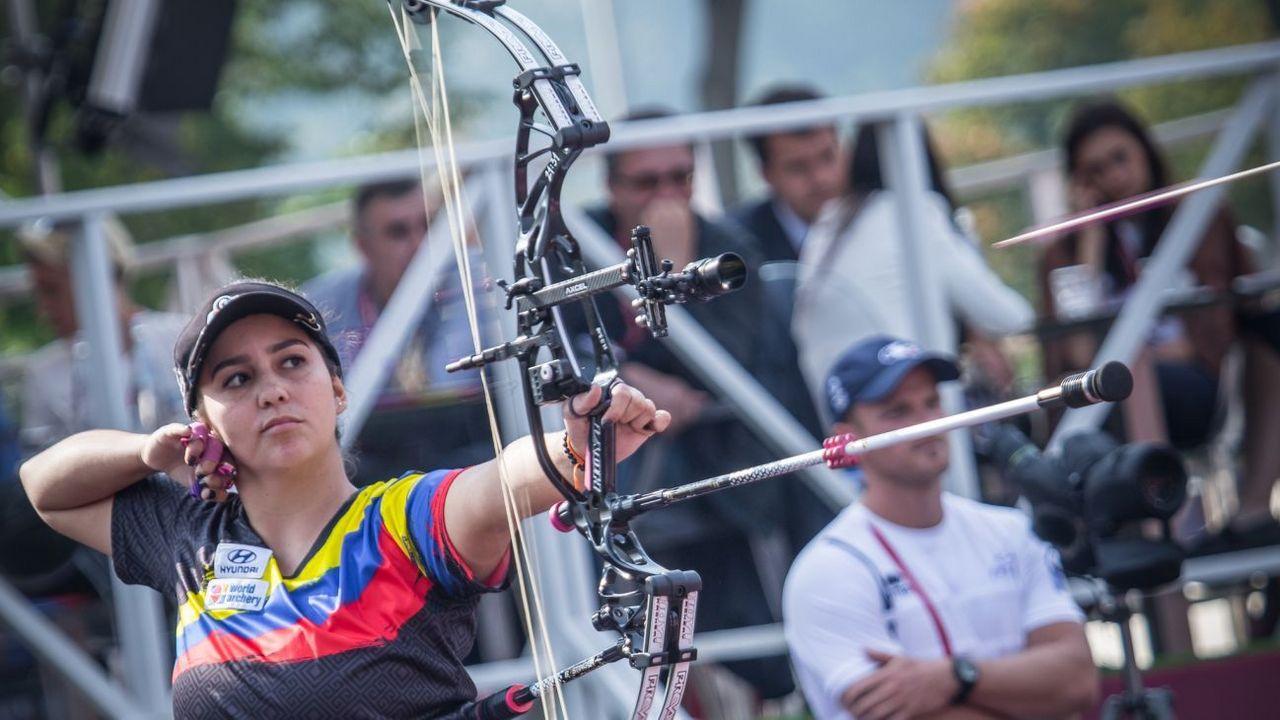 Foto: World Archery / Sara Lopez darf sich Siegerin des ersten Online-Wettkampfes in der Geschichte der WA nennen.