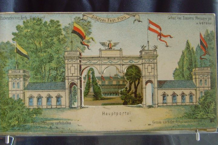 Wien 3-D-Ansichtskarte Diarama, 1868
