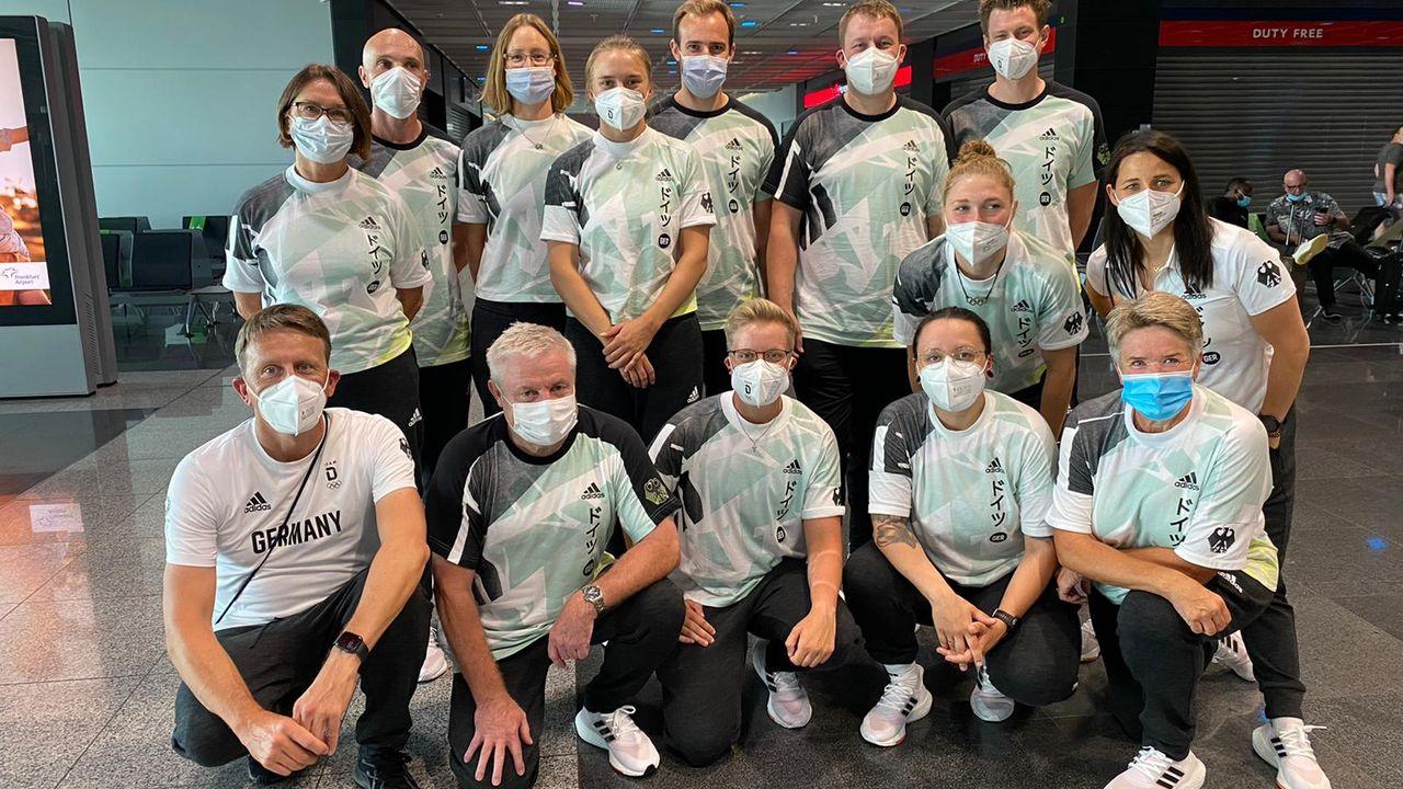 Bild: DSB / Das DSB-Team ist zum Abflug nach Tokio bereit.