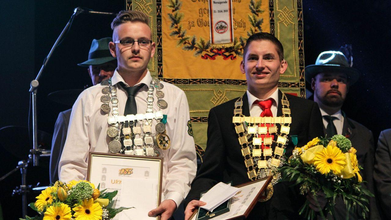 Foto: DSB / Bundesjugendschützenkönig (links)