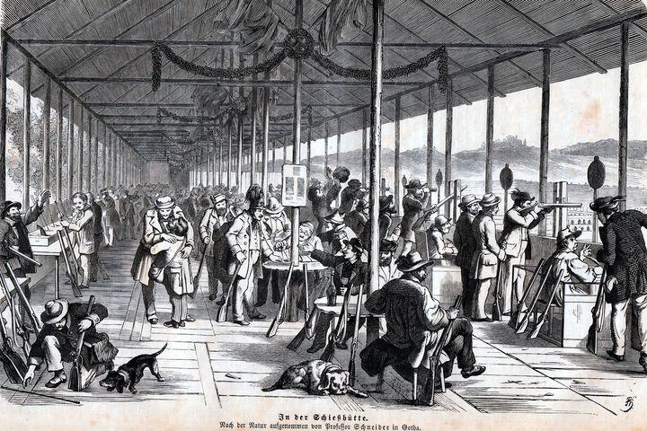 Schießhütte in Gotha, 1861