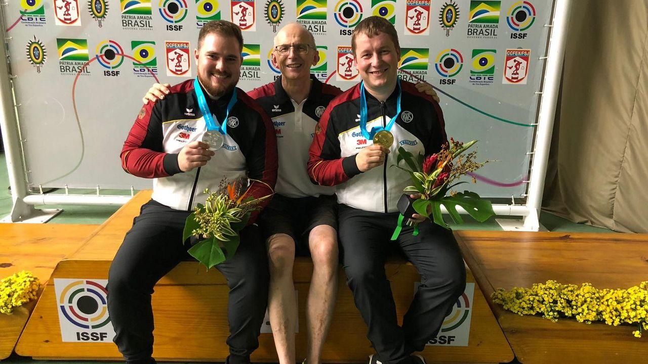 Foto: DSB / Das Trio Oliver Geis, Detlef Glenz und Christian Reitz wird beim Weltcup-Finale in China dabei sein.