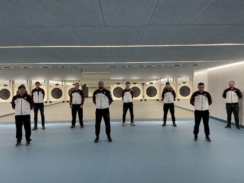 Foto: DSB / Das Schnellfeuerpistolen-Team testete auch schon eifrig die neue Anlage.