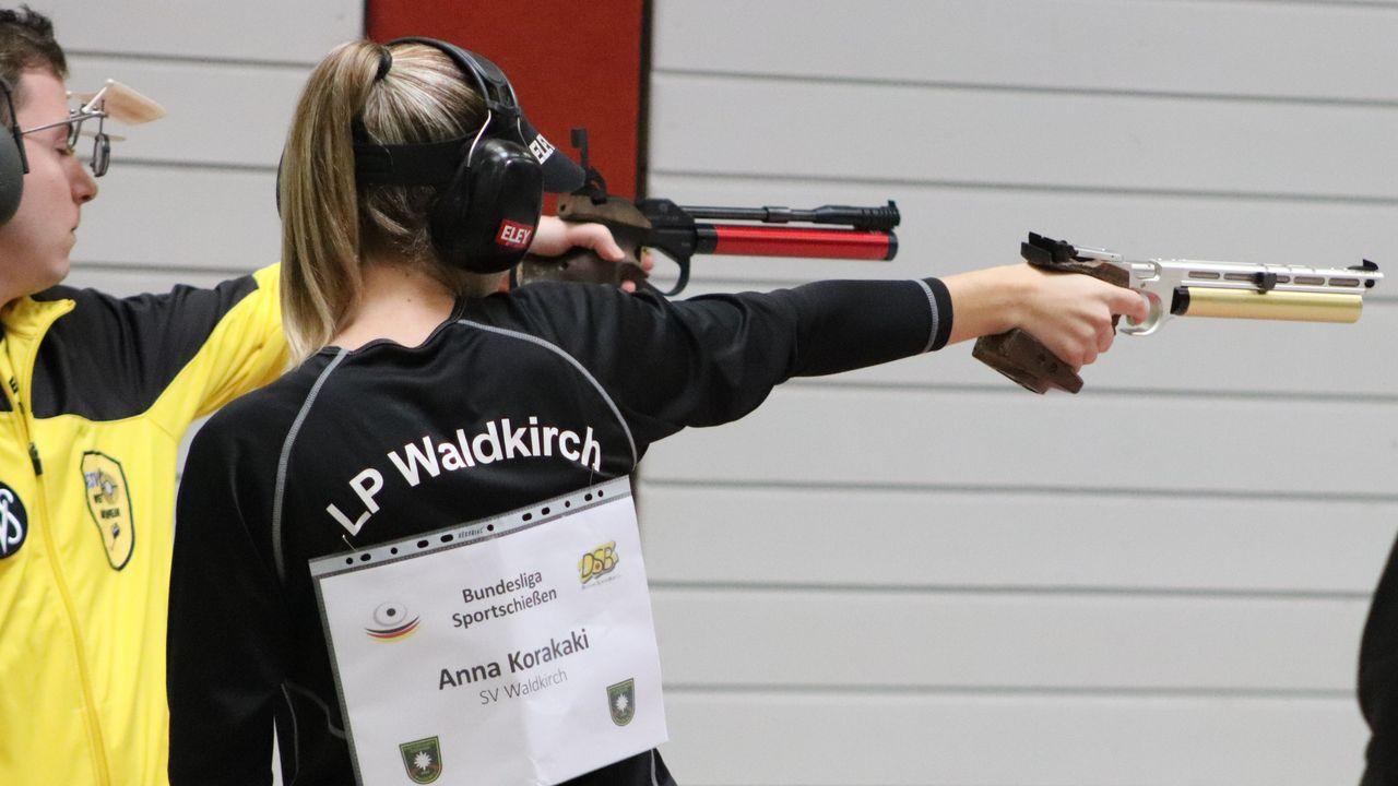 Foto: Elena Kugelmann / Olympiasiegerin Anna Korakaki feierte nach einjähriger Pause ihr Bundesliga-Comeback für den SV Waldkirch.