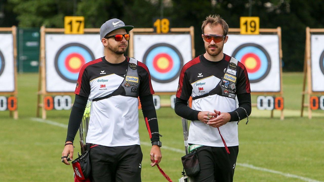 Bild: DSB / Maximilian Weckmüller und Florian Kahllund haben sich souverän für das Finale des Deutschland Cups in Wiesbaden qualifiziert.