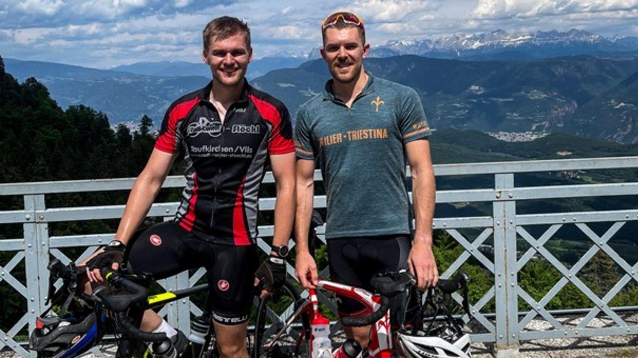 Foto: Maximilian Dallinger / Gehen demnächst auf große (Rad-)Tour: David Koenders (links) und Maximilian Dallinger.