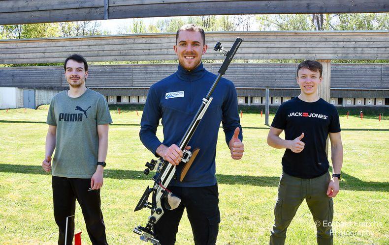 Foto: Eckhard Frerichs / Das EM-Team der Männer mit v.l. Dennis Welsch, Maximilian Dallinger und Max Braun.