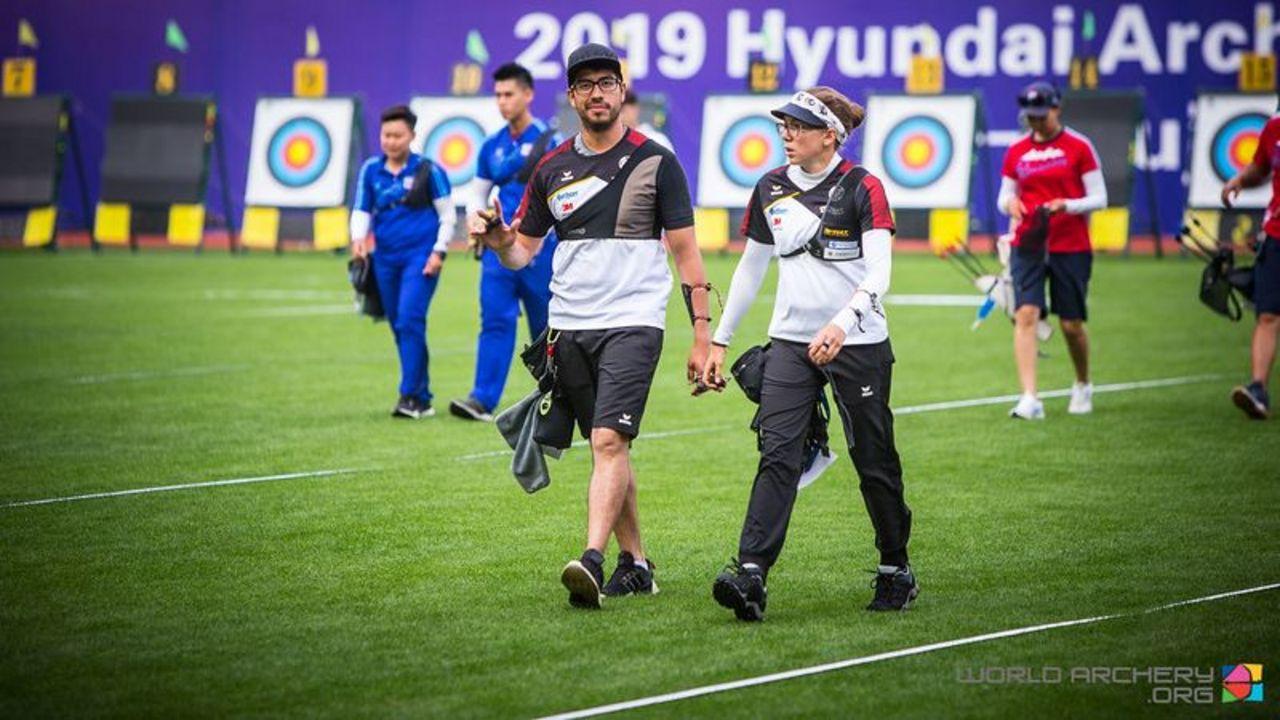 Foto: World Archery / Ordentlicher Auftritt des deutschen Teams in Shanghai.
