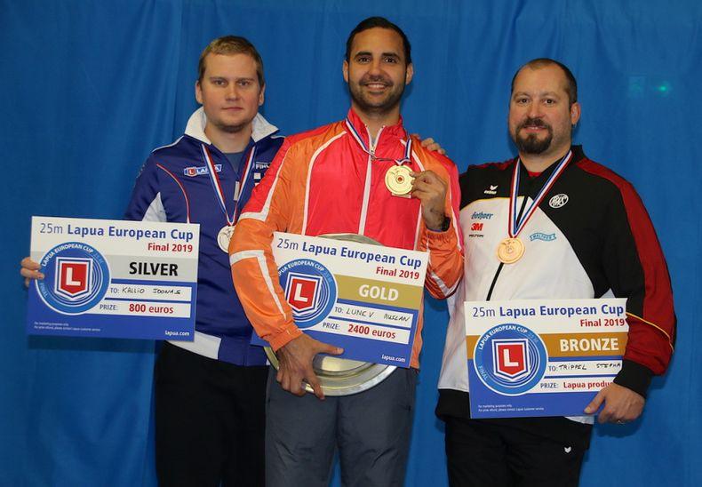 Foto: ESC / Stephan Trippel sorgte mit Zentralfeuer-Bronze für die ersehnte Medaille bei den Pistolenschützen.