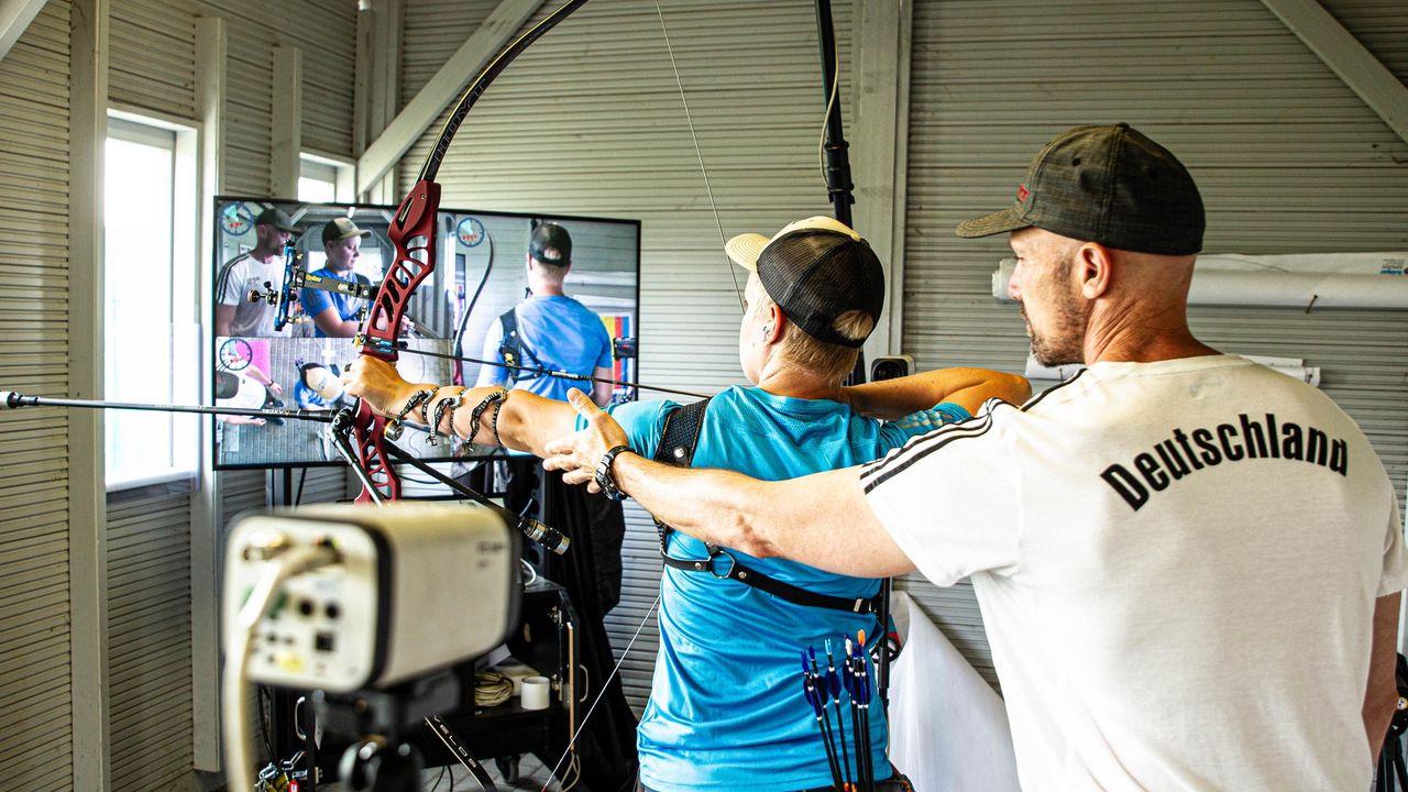 Bild: Kroppen / Für Michelle Kroppen ist es wichtig, dass Trainer Marc Dellenbach und sie ein gemeinsames Ziel verfolgen.