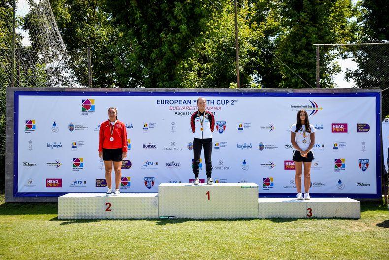 Bild: World Archery Europe / Elina Idensen holt sich in Bukarest ihre erste internationale Einzelmedaille und damit auch viel Selbstvertrauen für die WM.