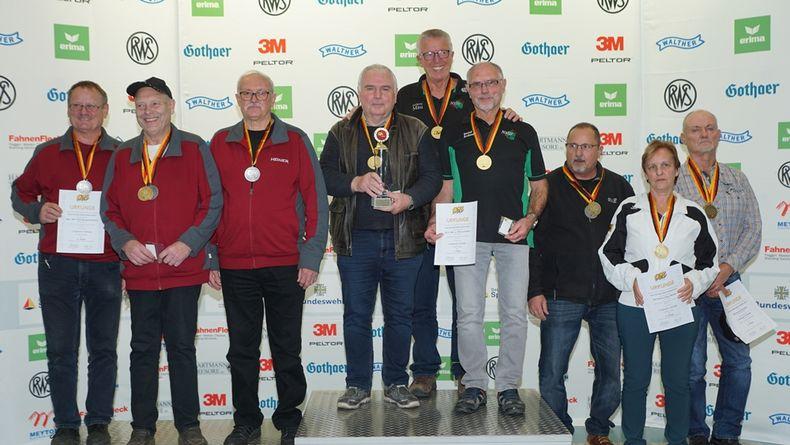 Foto: Philipp Schulz, Westfälischer Schützenbund / Niedersachsen vor Bayern vor Hessen lautete die Reihenfolge in der Teamwertung bei den Senioren III.