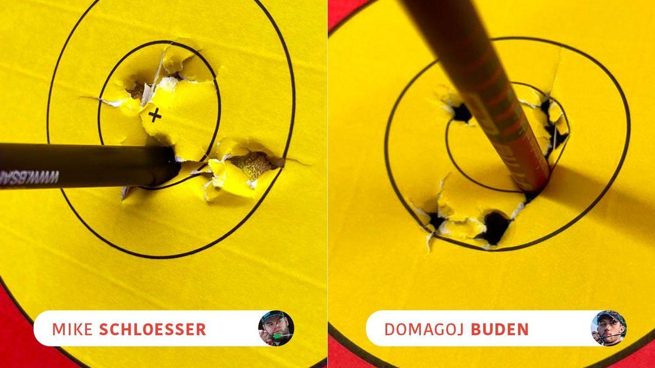 Foto: WA / Mit einem Stechschuss und extrem knapp endete das Duell zwischen Mike Schloesser und Domagoj Buden.