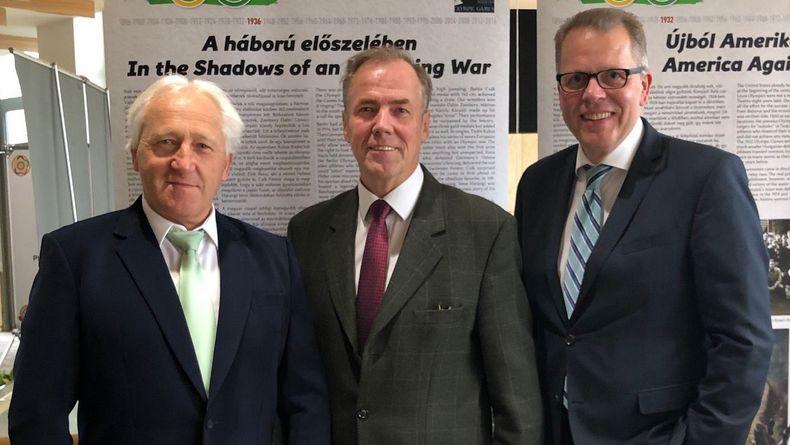 Foto: DSB / ESC-Präsidiumsmitglied Wilhelm Grill, DSB-Präsident Hans-Heinrich von Schönfels und DSB-Bundesgeschäftsführer Jörg Brokamp (von links) bildeten die deutsche Delegation bei der ESC-Generalversammlung.