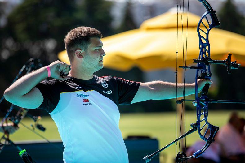 Foto: World Archery Europe / Tim Krippendorf ist der