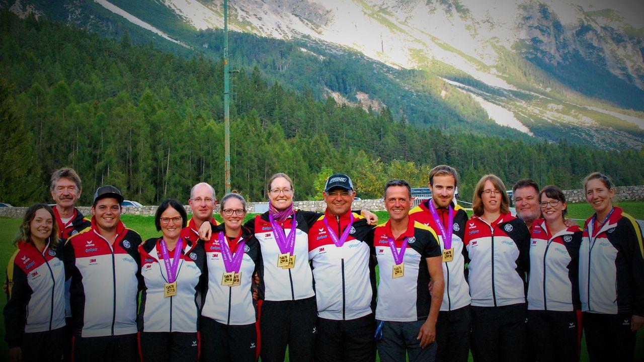 Foto: Peter Lange / Vor zwei Jahren feierte das DSB-Feldbogenteam eine sehr erfolgreiche WM mit insgesamt vier Medaillen.