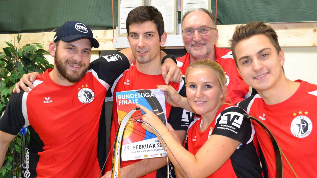 Foto: FSG Tacherting / Sicher beim Bundesligafinale in Wiesbaden dabei: Das Team der FSG Tacherting.