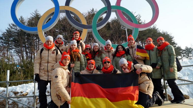 Foto: DOA / Einmal die Olympischen Spiele hautnah erleben?! Das deutsche olympische Jugendlager - auf dem Bild Teilnehmer im koreanischen PyeongChang 2018 - macht es möglich.