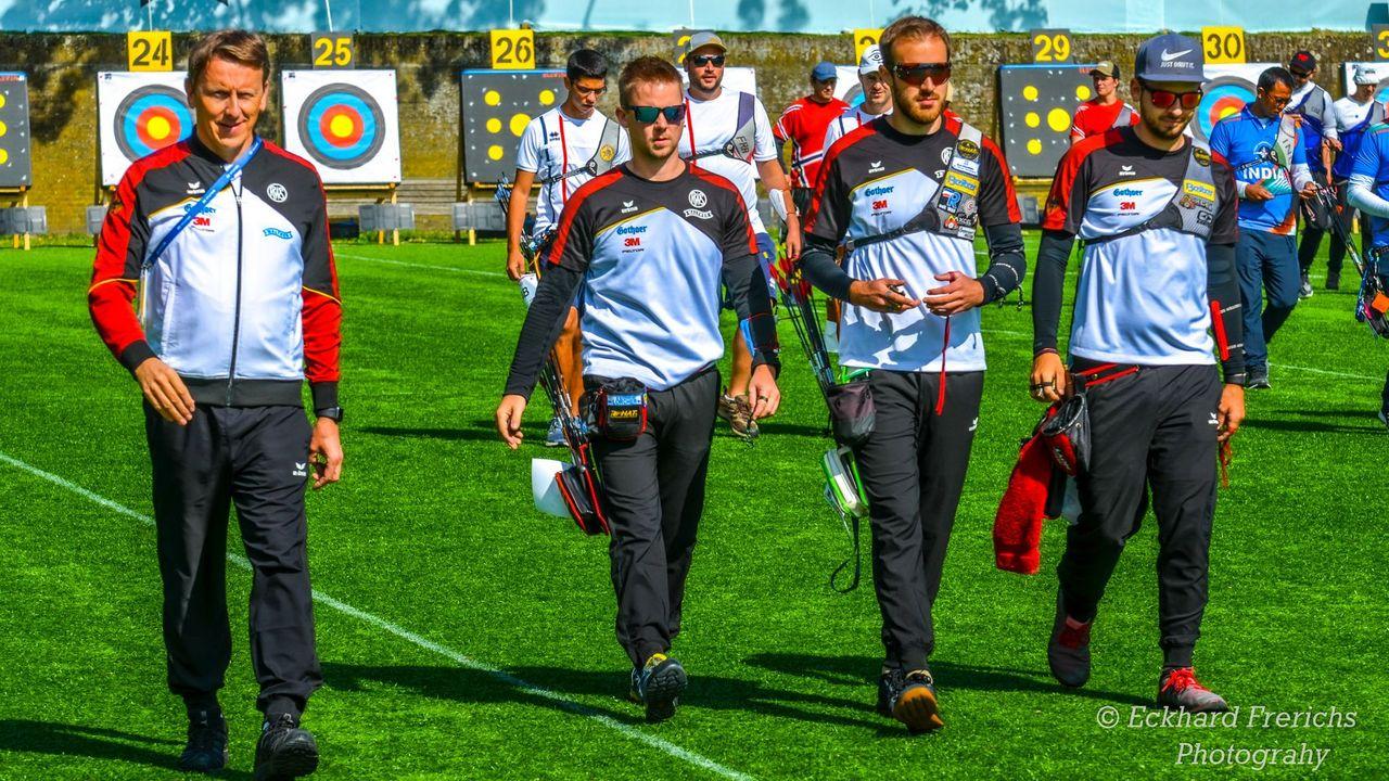 Foto: Eckhard Frerichs / Bundestrainer Oliver Haidn setzt auch in Berlin auf die WM-Starter Cedric Rieger, Florian Kahllund und Maximilian Weckmüller.