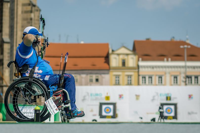 Foto: World Archery Europe / David Drahoninsky geht als Nummer eins in der W1-Klasse an den Start.