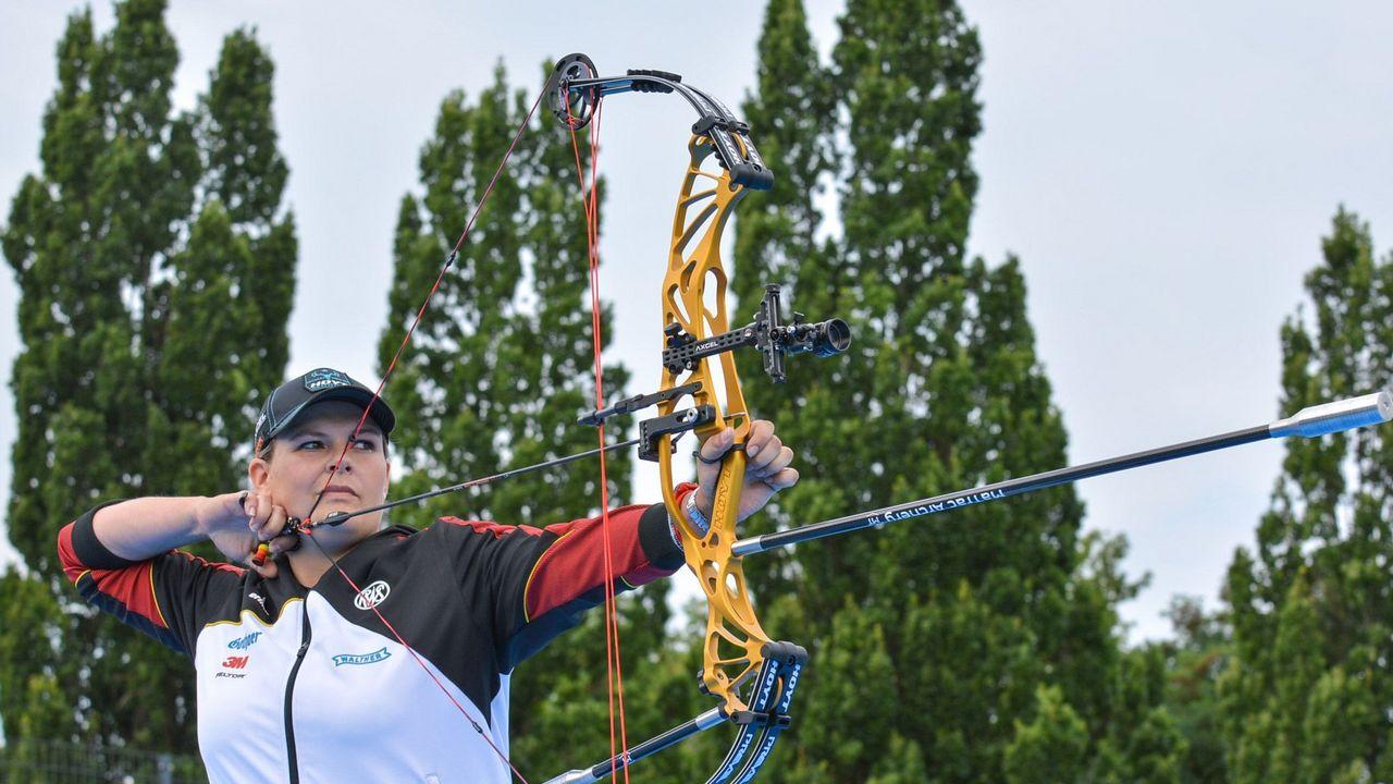 Foto: Eckhard Frerichs / Kristina Heigenhauser und die DSB-Compounderinnen verpassten die erhoffte Bronzemedaille.