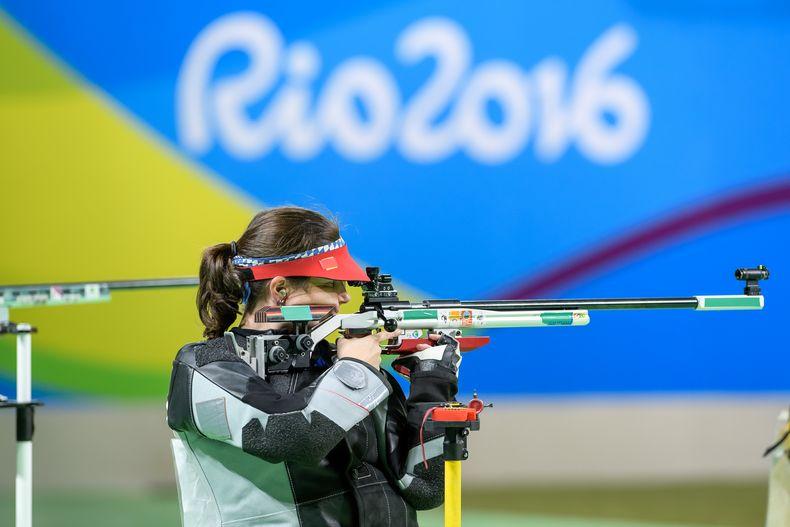Bidl: ISSF / Barbara Engleder auf dem Weg zu Olympia-Gold in Rio de Janeiro 2016.