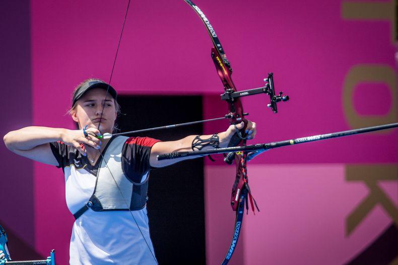 Foto: Dean Alberga / Beendete die ersten Olympischen Spiele mit einer Bronzemedaille im Team und Platz 33 im Einzel: Charline Schwarz.
