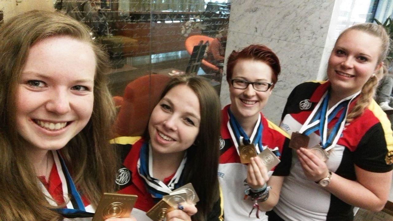 Bild: Lehrich / Für Tina Lehrich (Zweite von links) gehört die EM in Tallinn (EST) mit ihren Freundinnen 2017 zu ihren schönsten Erinnerungen.