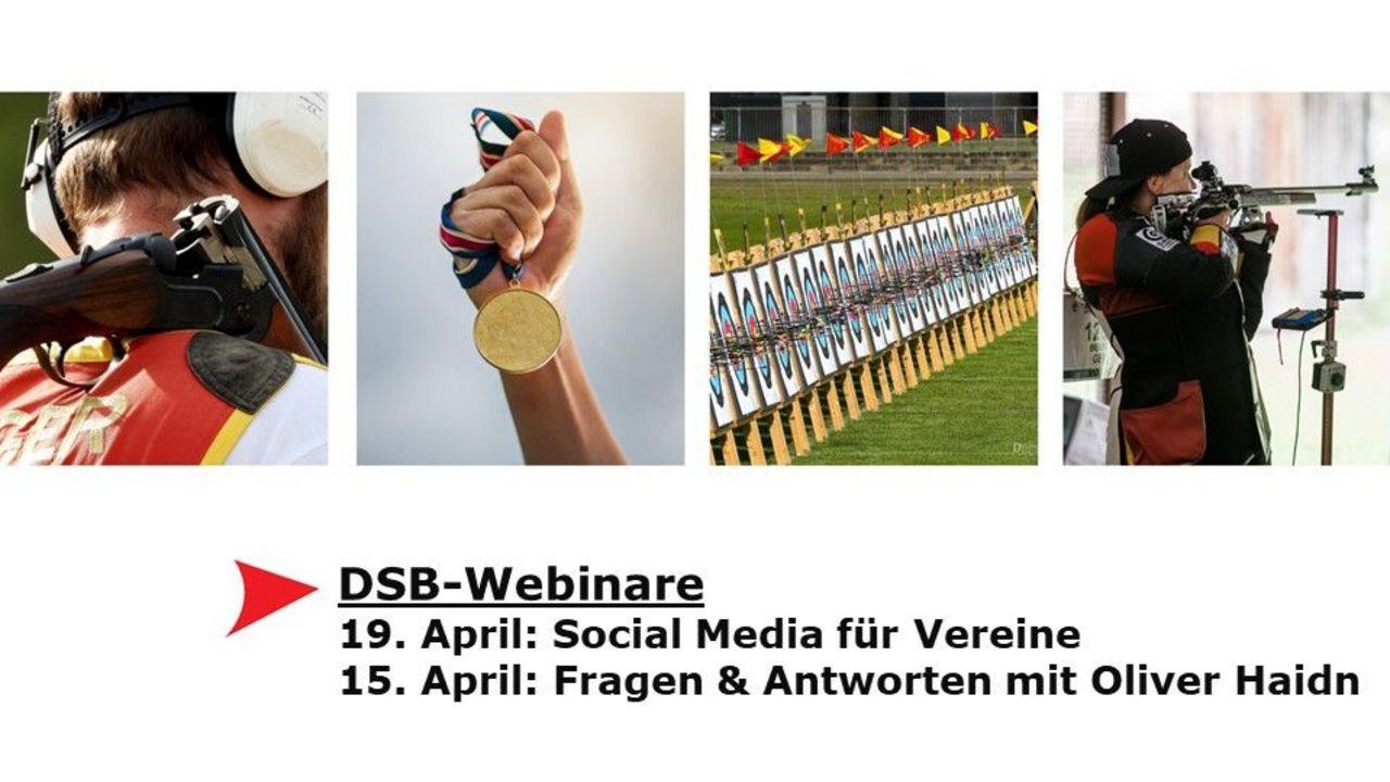 DSB-Webinare: Social Media am 19. April, Zusatztermin Bogen am 15. April