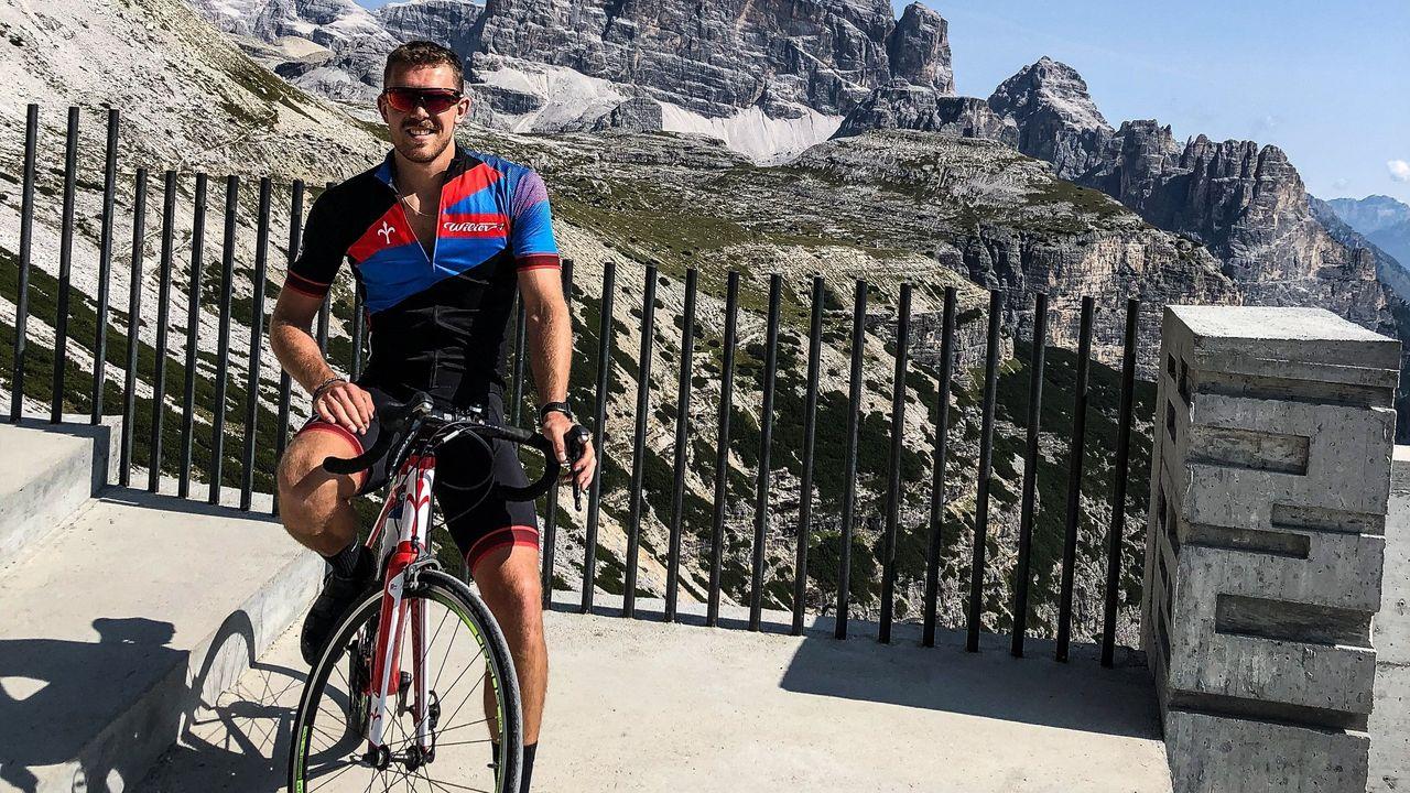 Foto: privat / Gewehrschütze Maxi Dallinger ist begeisterter Radfahrer und tritt mit sechs Sportschützen-Kollegen für einen guten Zweck in die Pedale.