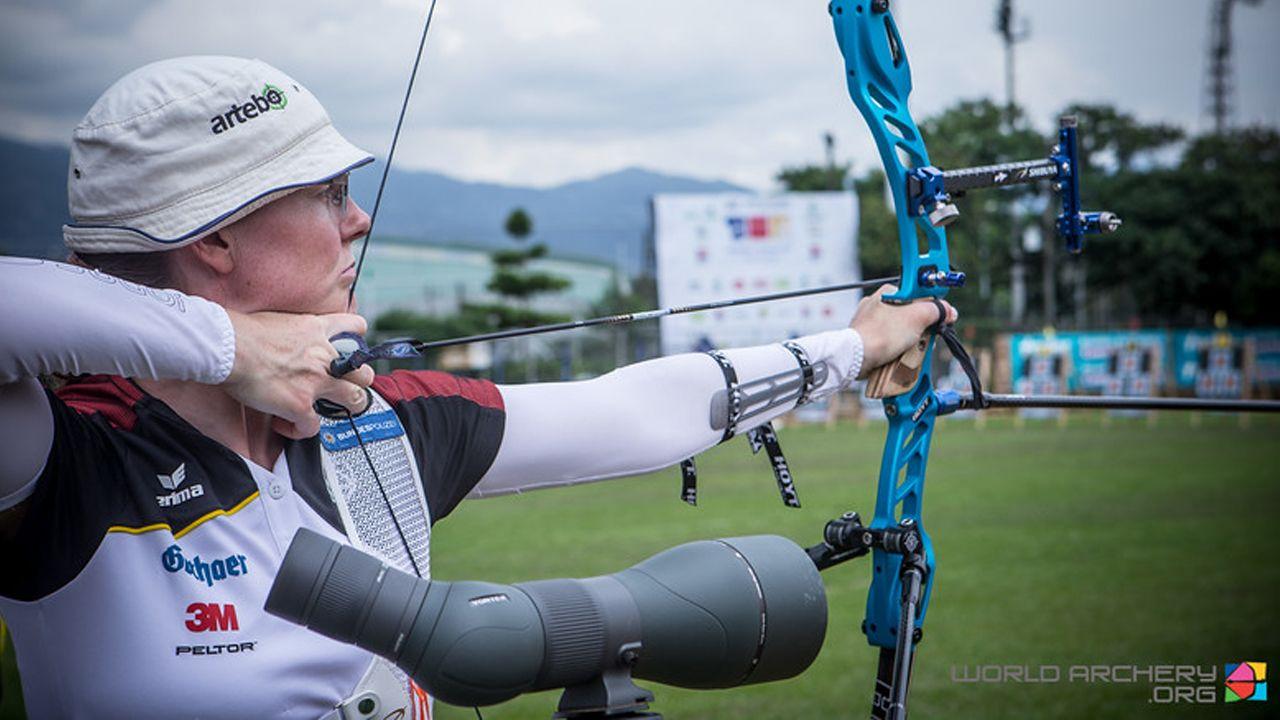 Foto: World Archery / Lisa Unruh hatte sich ihren Start in die Weltcup-Saison anders vorgestellt.