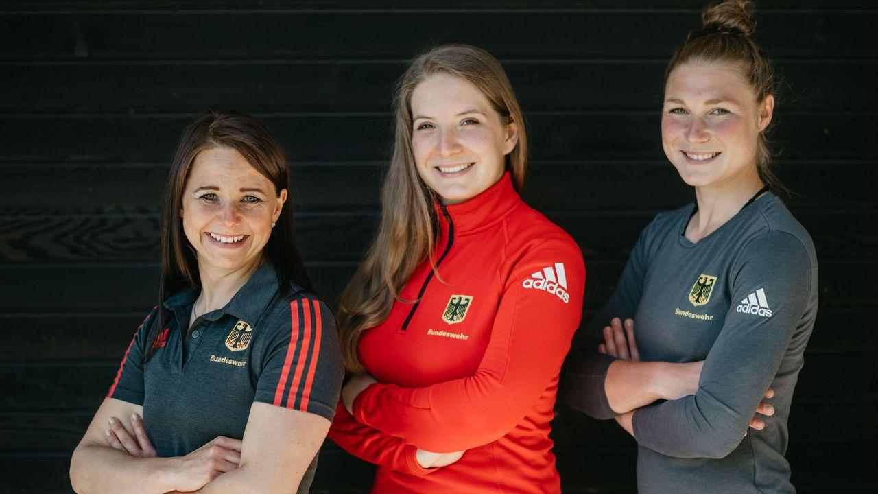 Foto: DSB / Monika Karsch, Doreen Vennekamp und Carina Wimmer sind allesamt bei der Bundeswehr.