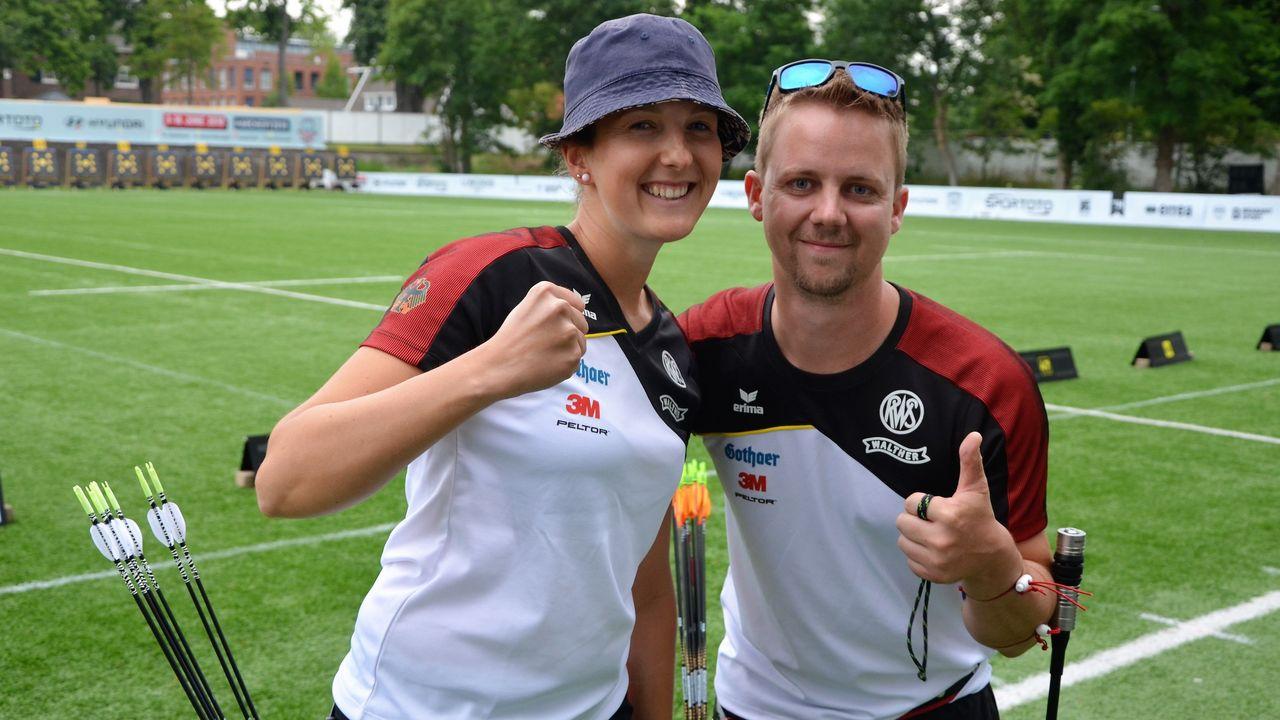 Foto: Eckhard Frerichs / Elena Richter und Cedric Rieger waren am ersten WM-Tag die erfolgreichsten deutschen Schützen.