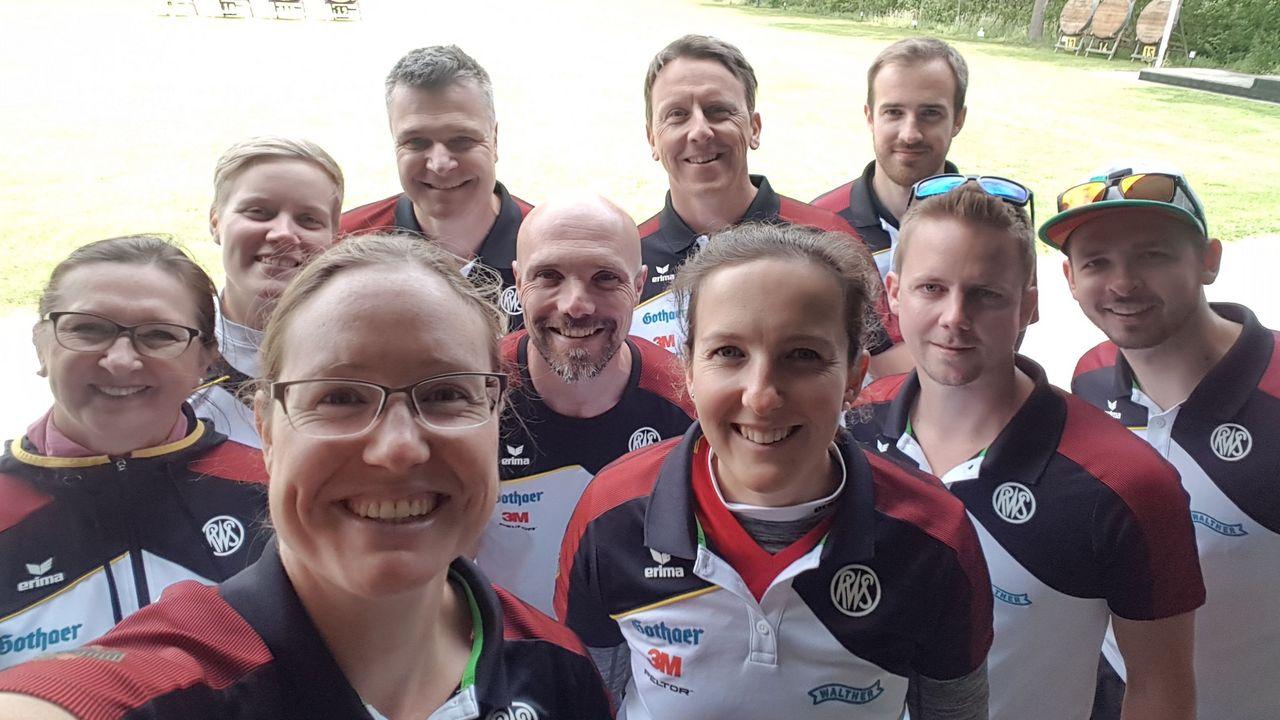 Foto: Lisa Unruh / WM-Vorfreude beim deutschen Recurve-Team.