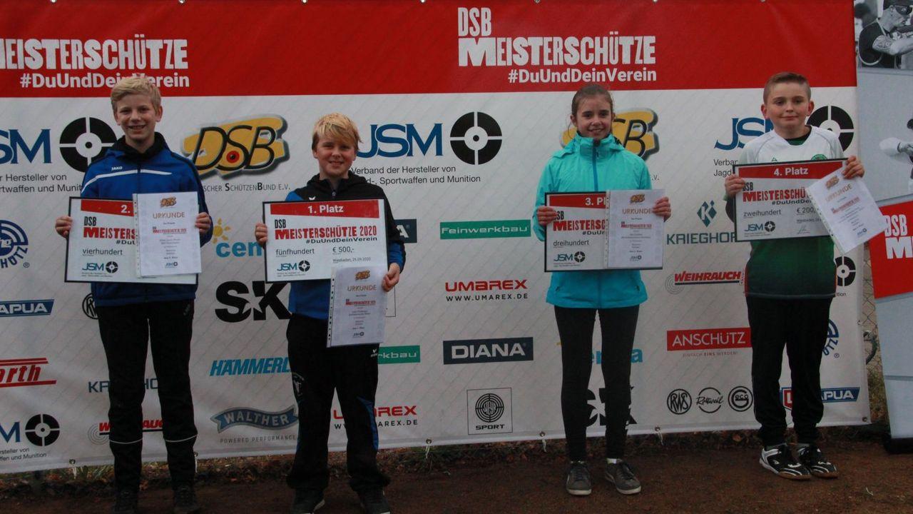Foto: DSB / Glückliche Gesichter überall, auch bei den Siegern der Compound Jugend-/Juniorenklasse.