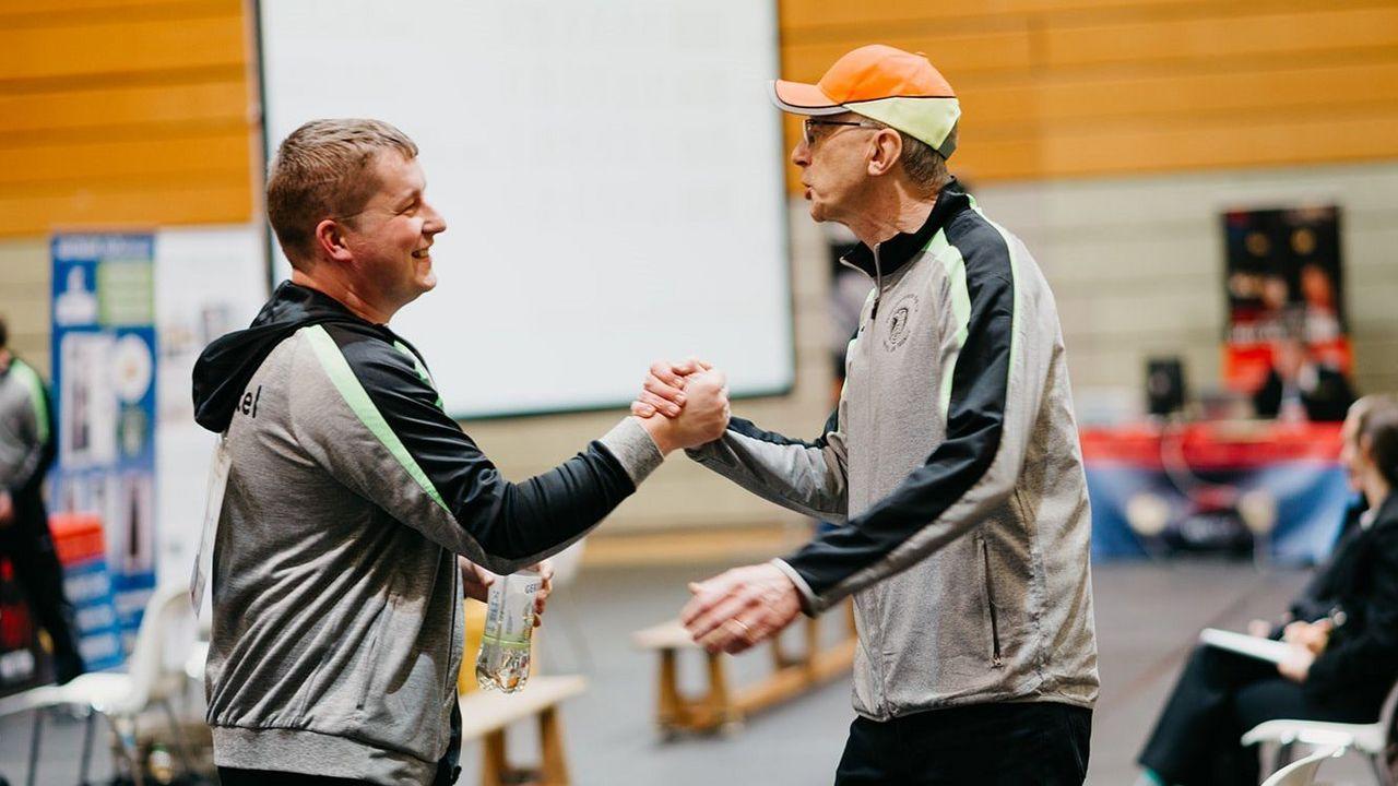 """Foto: DSB / Christian Reitz und Trainer Detlef Glenz werden alles daran setzen, mit einem Sieg im Spitzenduell gegen Braunschweig den ersten """"kleinen"""" Meistertitel nach Kriftel zu holen."""