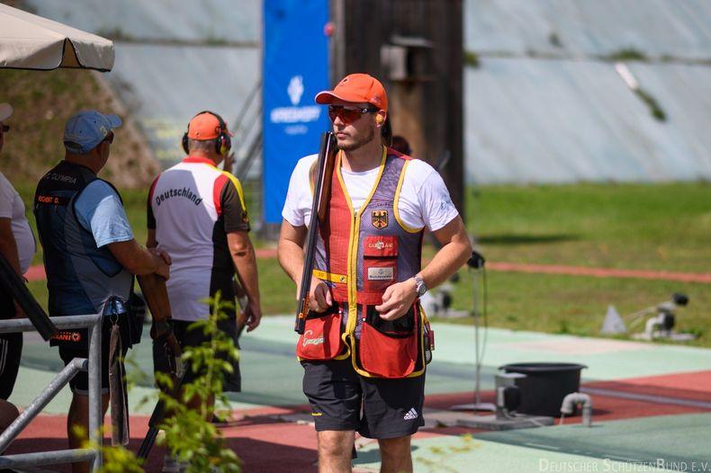 Foto: DSB / Vincent Haaga ist einer von drei DSB-Skeetschützen, die bei der EM nach Medaille und Quotenplatz greifen wollen.