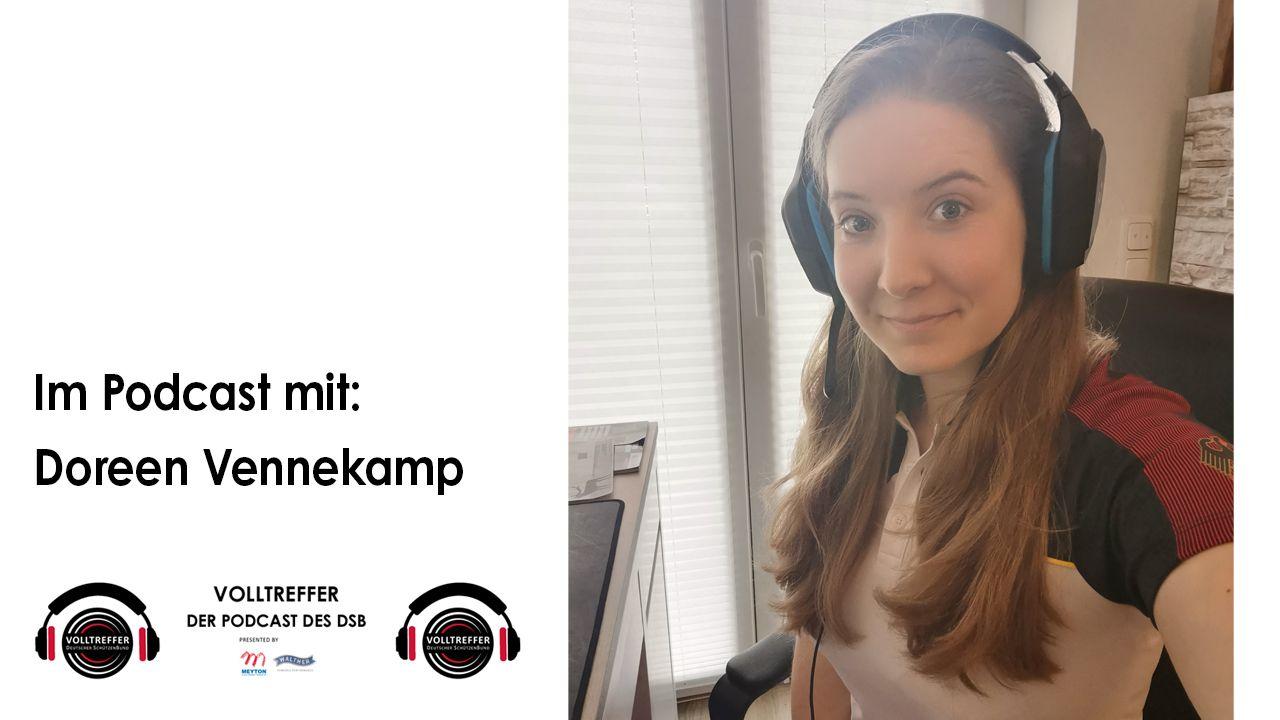 """Foto: DSB / Doreen Vennekamp ist dieses Mal Gast im DSB-Podcast """"Volltreffer""""."""