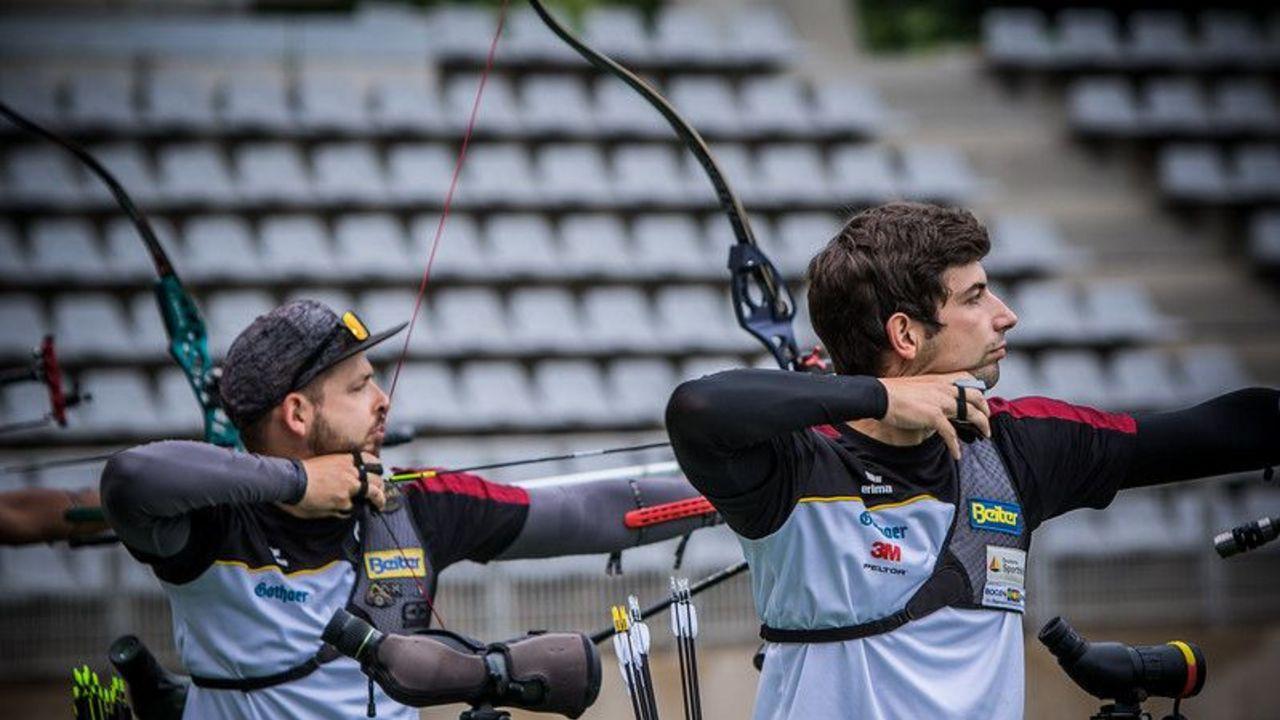 Foto: World Archery / Maximilian Weckmüller und Johannes Maier (rechts) sind zwei aussichtsreiche Anwärter für das WM-Team 2021.