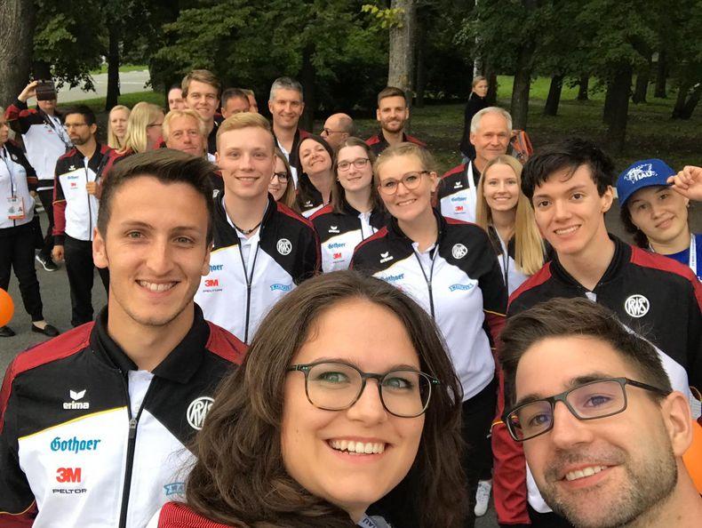 Foto: WSV / Beste Laune im deutschen Team nach einer erfolgreichen Armbrust-WM.