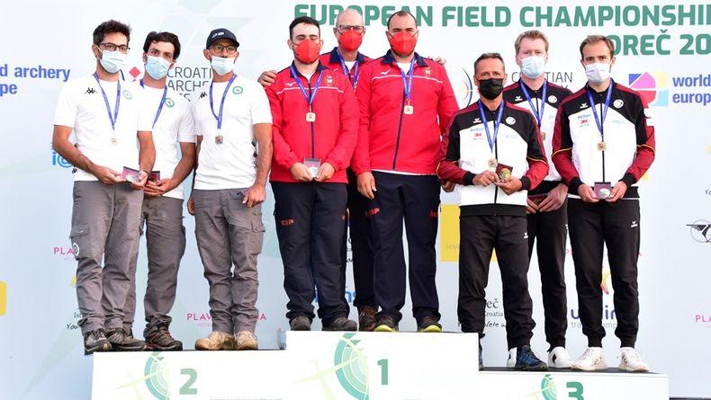 Foto: DSB / Bronze für Michael Meyer, Henning Lüpkemann und Florian Unruh im Teamwettbewerb hinter Spanien und Italien.