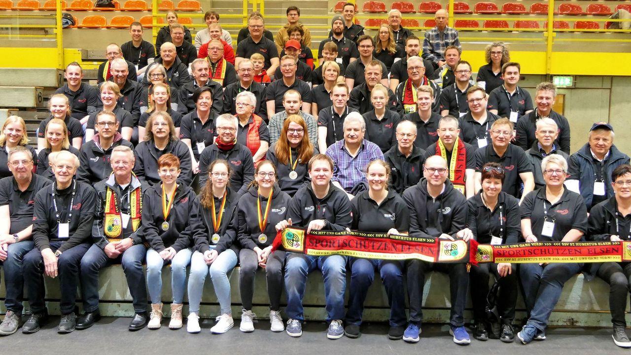 Foto: SSV Elsen / Ein großes Team, der Schießsportverein St. Hubertus Elsen e.V.