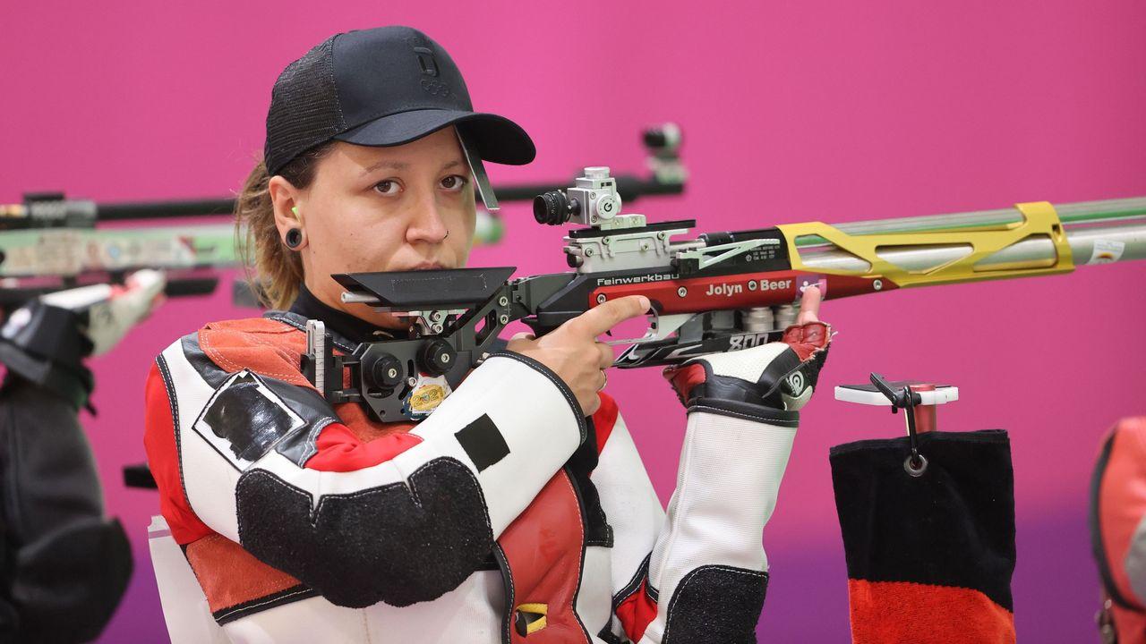 Foto: Picture Alliance / Jolyn Beer zeigte bei ihrer olympischen Premiere einen ordentlichen Wettkampf mit dem Luftgewehr.